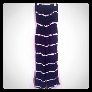 Pants - Blue and white strapless jumper